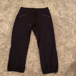 athleta cropped joggers with zipper pockets